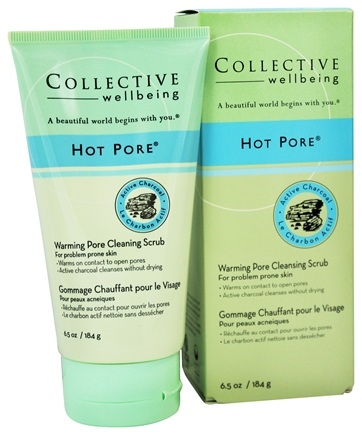 Collective Wellbeing - Facial Cleanser Hot Pore Warming Pore Scrub with Active Charcoal - 6.5 oz.