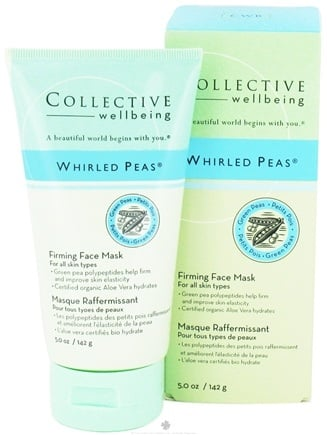 DROPPED: Collective Wellbeing - Whirled Peas Firming Face Mask with Green Peas - 5 oz. CLEARANCE PRICED