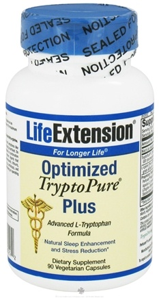 DROPPED: Life Extension - Optimized TryptoPure Plus - 90 Vegetarian Capsules