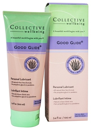 Collective Wellbeing - Good Glide Personal Lubricant with Aloe Vera Natural Berry Flavored - 3.4 oz.