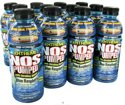 DROPPED: Pure Protein - Extreme NOS Pumped Pre-Workout Blue Raspberry - 20 oz. CLEARANCE PRICED