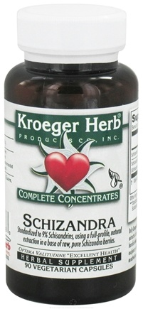 DROPPED: Kroeger Herbs - Schizandra Complete Concentrates - 90 Vegetarian Capsules