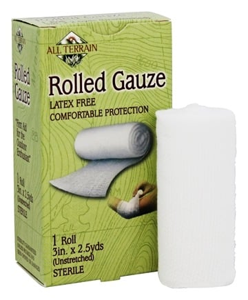 DROPPED: All Terrain - Rolled Gauze Latex Free 3 in x 2.5 yds - 1 Roll(s)