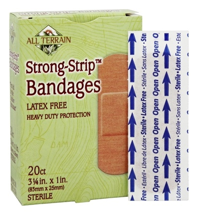 DROPPED: All Terrain - Strong-Strip Bandages Latex Free - 20 Bandage(s)