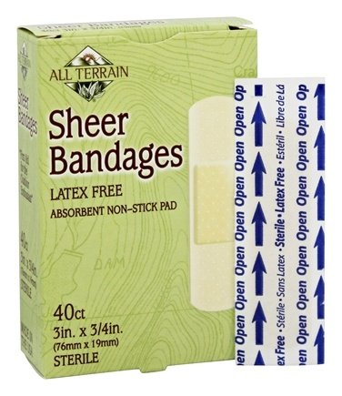 All Terrain - Sheer Bandages Latex Free - 40 Bandage(s)