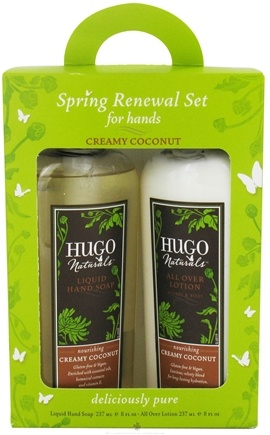 DROPPED: Hugo Naturals - Spring Renewal Set For Hands Creamy Coconut - CLEARANCE PRICED
