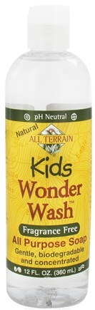 DROPPED: All Terrain - Kids Wonder Wash All Purpose Soap Fragrance Free - 12 oz. CLEARANCE PRICED