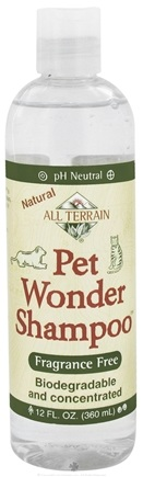 DROPPED: All Terrain - Pet Wonder Shampoo Fragrance Free - 12 oz. CLEARANCE PRICED