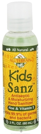 DROPPED: All Terrain - Kids Sanz Antiseptic & Moisturizing Hand Sanitizer Aloe and Vitamin E - 2 oz. CLEARANCE PRICED