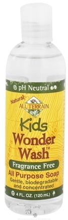 DROPPED: All Terrain - Kids Wonder Wash All Purpose Soap Fragrance Free - 4 oz.