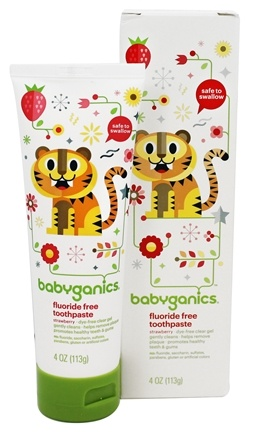 BabyGanics - Toothpaste Gel Fluoride Free Strawberry - 4 oz.