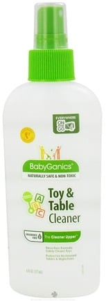 DROPPED: BabyGanics - Toy & Table Cleaner The Cleaner Upper Fragrance Free - 6 oz. CLEARANCE PRICED