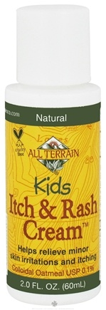 DROPPED: All Terrain - Kids Itch & Rash Cream - 2 oz. CLEARANCE PRICED