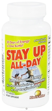 DROPPED: Rise-N-Shine - Stay Up All Day Time Released Energy - 30 Tablets CLEARANCE PRICED