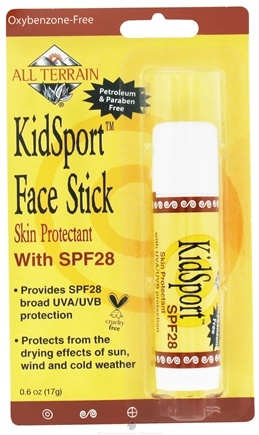 DROPPED: All Terrain - KidSport Face Stick Skin Protectant 28 SPF - 0.6 oz. CLEARANCE PRICED