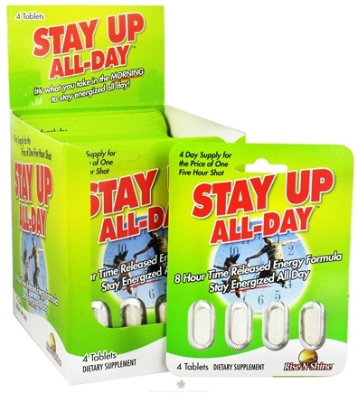 DROPPED: Rise-N-Shine - Stay Up All Day Time Released Energy - 4 Tablets
