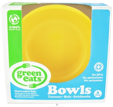 DROPPED: Green Eats - Bowls Yellow - 2 Pack CLEARANCE PRICED