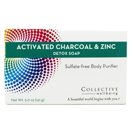 Collective Wellbeing - Detox Soap Sulfate-Free Body Purifier Bar with Active Charcoal & Zinc - 5 oz.