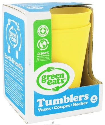 DROPPED: Green Eats - Tumblers Yellow - 2 Pack CLEARANCE PRICED