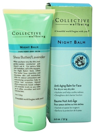 DROPPED: Collective Wellbeing - Night Balm Anti-Aging Balm For Face with Shea Butter & Lavender - 2 oz.