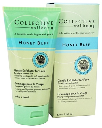 Collective Wellbeing - Honey Buff Gentle Exfoliator For Face with Honey & Rose Hips - 5.1 oz.