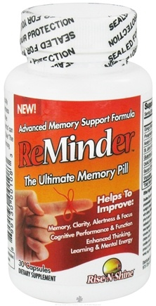DROPPED: Rise-N-Shine - Reminder The Ultimate Memory Pill - 30 Capsules