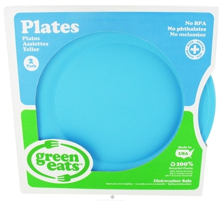 DROPPED: Green Eats - Plates Blue - 2 Pack CLEARANCE PRICED