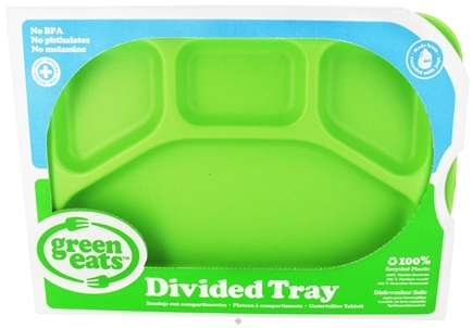 DROPPED: Green Eats - Divided Tray Green - CLEARANCE PRICED