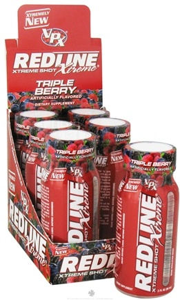 DROPPED: VPX - Redline Xtreme Energy Shot Triple Berry - 3 oz. CLEARANCE PRICED