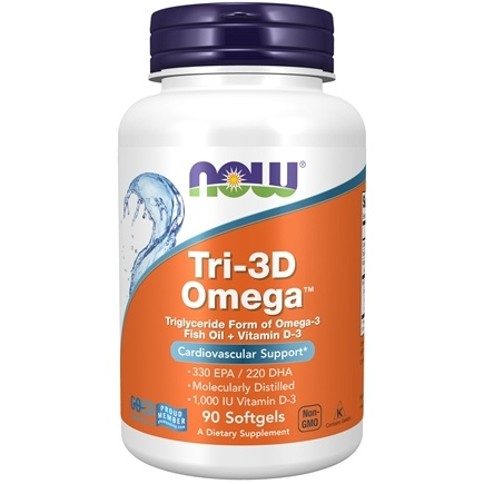 DROPPED: NOW Foods - Tri-3D Omega - 90 Softgels CLEARANCE PRICED