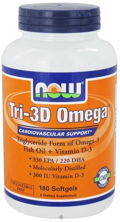 DROPPED: NOW Foods - Tri-3D Omega - 180 Softgels