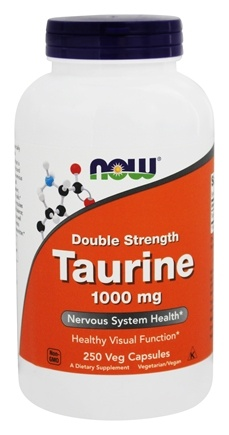 NOW Foods - Taurine Double Strength 1000 mg. - 250 Capsules