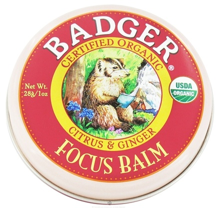 DROPPED: Badger - Focus Balm Citrus & Ginger - 1 oz. CLEARANCE PRICED