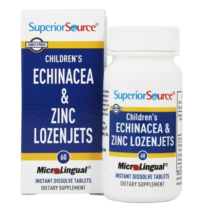 DROPPED: Superior Source - Children's Echinacea and Zinc Lozenjets Instant Dissolve - 60 Tablets CLEARANCE PRICED