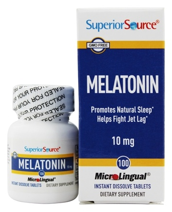 Superior Source - Melatonin Instant Dissolve 10 mg. - 100 Tablets