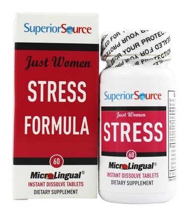 Superior Source - Just Women Stress Formula Instant Dissolve - 60 Tablets