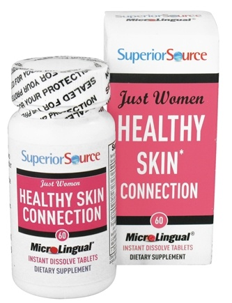 DROPPED: Superior Source - Just Women Healthy Skin Instant Dissolve - 60 Tablets CLEARANCE PRICED