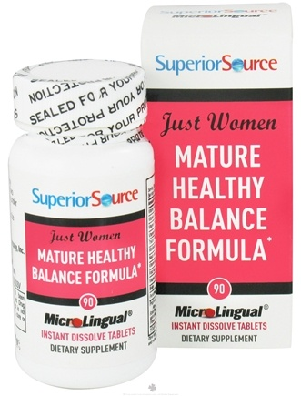 DROPPED: Superior Source - Just Women Mature Healthy Balance Formula Instant Dissolve - 90 Tablets CLEARANCE PRICED