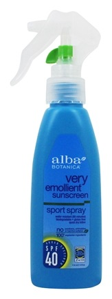 Alba Botanica - Very Emollient Sunscreen Natural Protection Sport Spray 40 SPF - 4 oz.