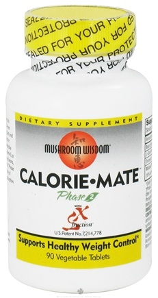 DROPPED: Mushroom Wisdom - Calorie Mate Phase 2 with SX Fraction - 90 Vegetarian Tablets CLEARANCE PRICED
