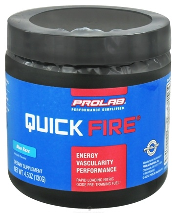 DROPPED: Prolab Nutrition - Quick Fire Blue Razz - 130 Grams