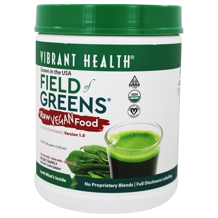 Vibrant Health - Field of Greens Raw Green Food - 15.03 oz.