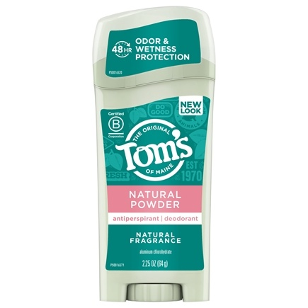 Tom's of Maine - Naturally Dry Deodorant Stick Natural Powder - 2.25 oz.