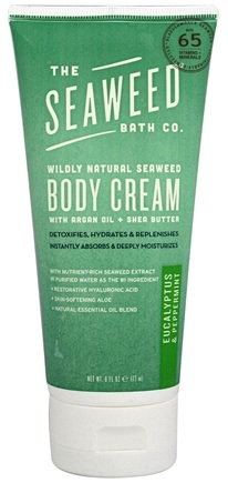 Seaweed Bath Company - Wildly Natural Seaweed Body Cream Eucalyptus & Peppermint Scent - 6 oz.