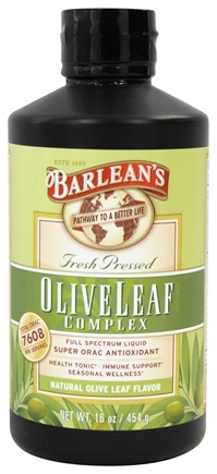 Barlean's - Fresh Pressed Olive Leaf Complex Full Spectrum Liquid Natural Flavor - 16 oz.