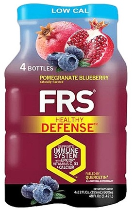 DROPPED: FRS Healthy Energy - Healthy Defense Low Cal 4 x 12 oz. Bottles Pomegranate Blueberry - 4 Pack