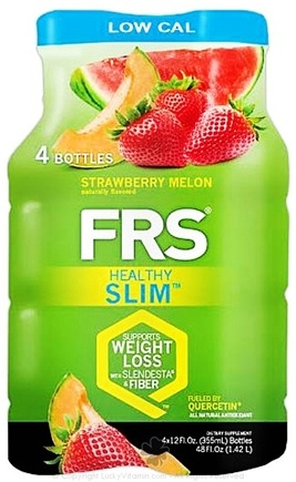 DROPPED: FRS Healthy Energy - Healthy Slim Low Cal 4 x 12 oz. Bottles Strawberry Melon - 4 Pack