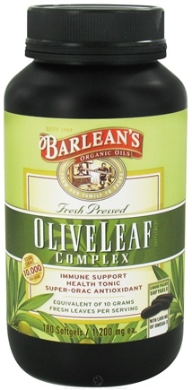 DROPPED: Barlean's - Fresh Pressed Olive Leaf Complex 1200 mg. - 180 Softgels