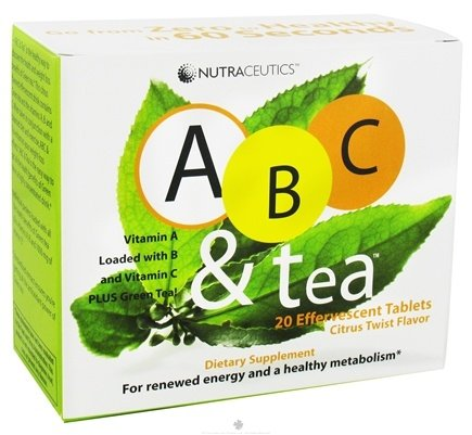 DROPPED: Nutraceutics - ABC and Tea Citrus Twist Flavor - 20 Effervescent Tablet(s) CLEARANCE PRICED