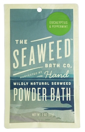 DROPPED: Seaweed Bath Company - Wildly Natural Seaweed Powder Bath Eucalyptus & Peppermint Scent - 2 oz.